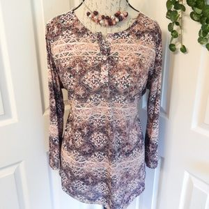 Avenue Lightweight Hi-Low Blouse Size 1X
